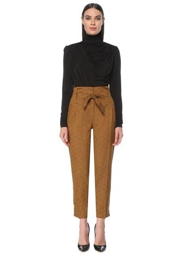 NetWork NetWork 1077180 Hardal Yüksek Bel Pilili Kadın Pantolon Hardal